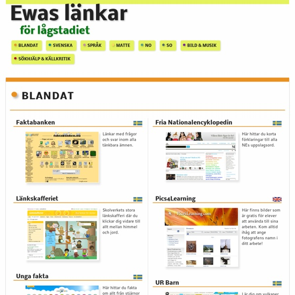 Ewas länkar för lågstadiet