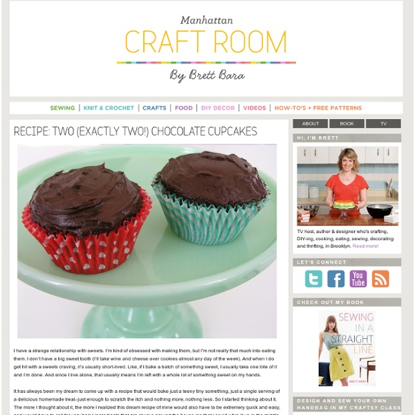 Recipe: two (exactly two!) chocolate cupcakes