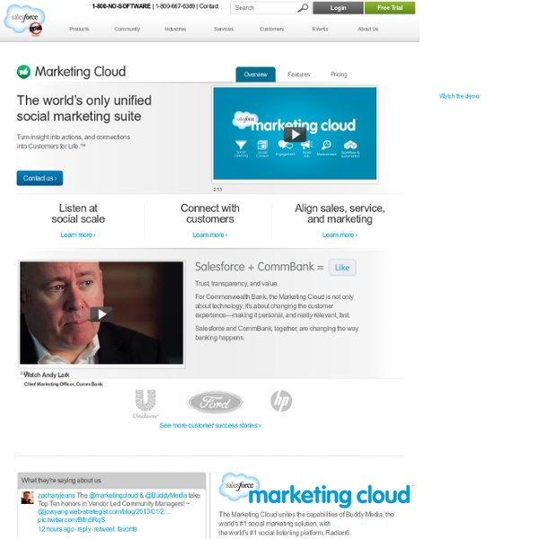 Social Media Monitoring & Marketing Tools - Salesforce Marketing Cloud