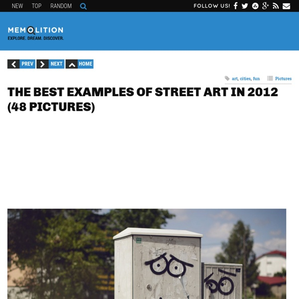 The best examples of street art in 2012 (48 pictures)