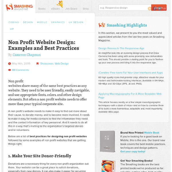 Non Profit Website Design: Examples and Best Practices - Smashing Magazine