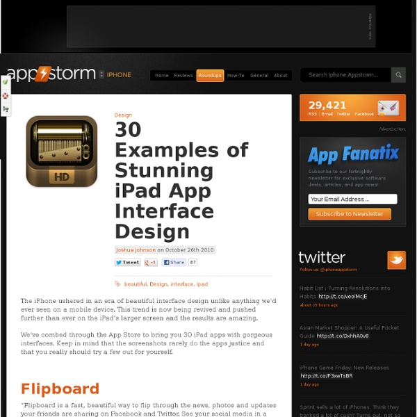 30 Examples of Stunning iPad App Interface Design
