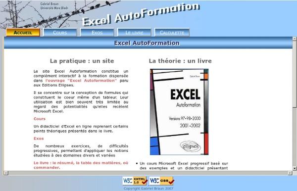 . Excel AutoFormation