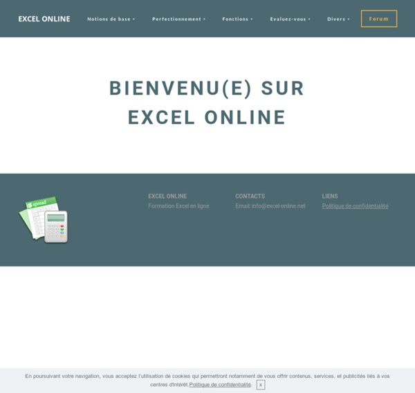 Formation Excel en ligne gratuite