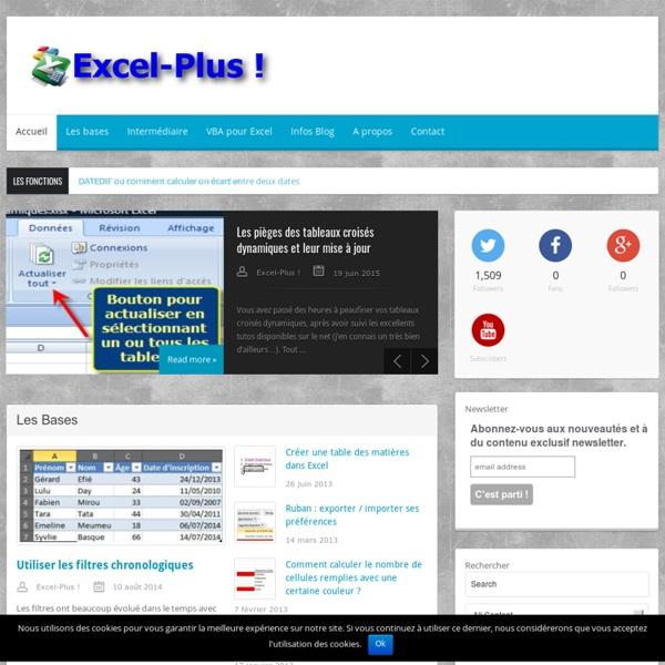 Excel-Plus ! - Excel ne vous aura jamais paru aussi simple