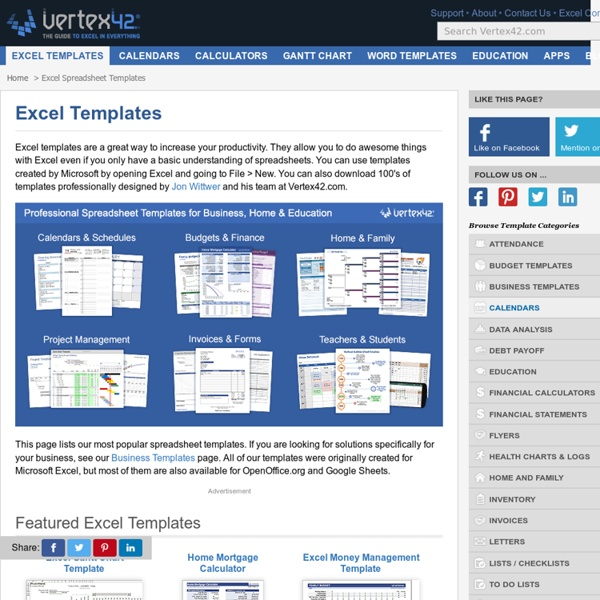 Free Microsoft Excel Templates and Spreadsheets
