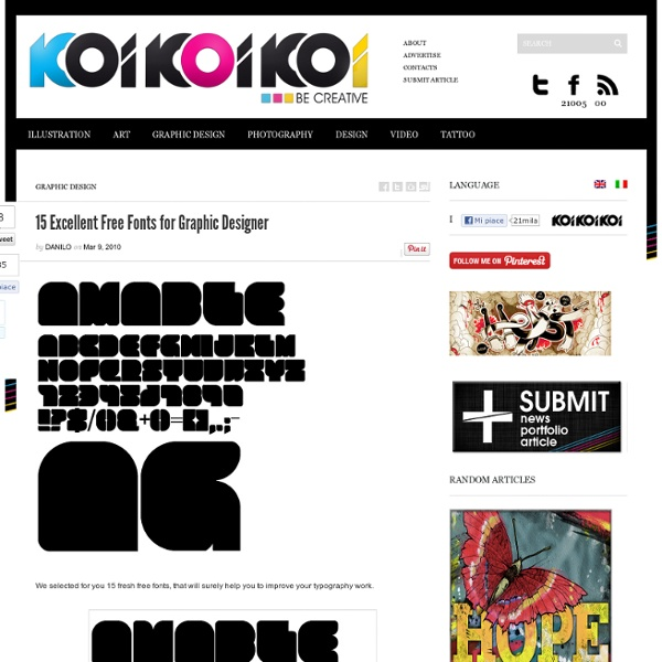 15 Excellent Free Fonts for Graphic Designer