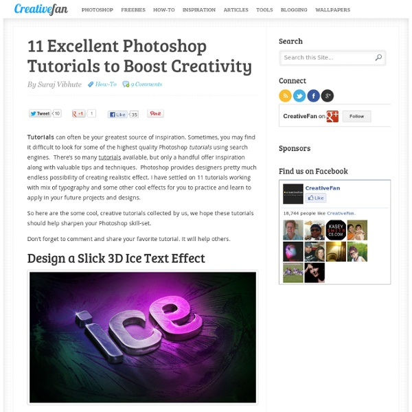 11 Excellent Photoshop Tutorials to Boost Creativity