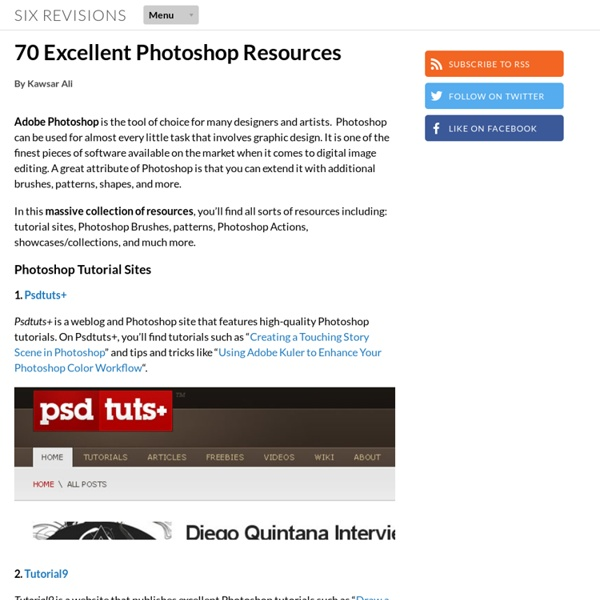 70 Excellent Photoshop Resources
