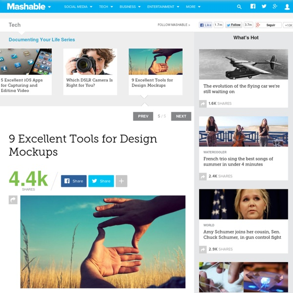 9 Excellent Tools for Design Mockups