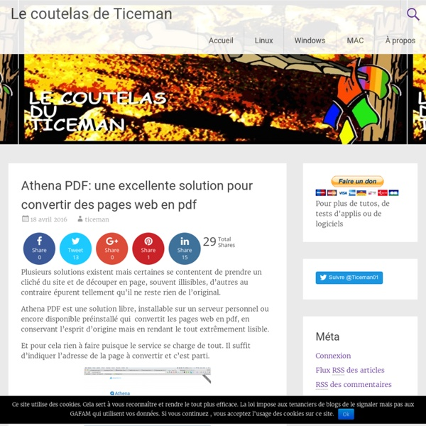 Athena PDF: une excellente solution pour convertir des pages web en pdf