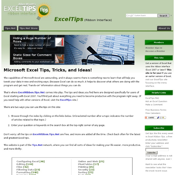 ExcelRibbon.Tips.Net - Powerful tips on using Microsoft Excel