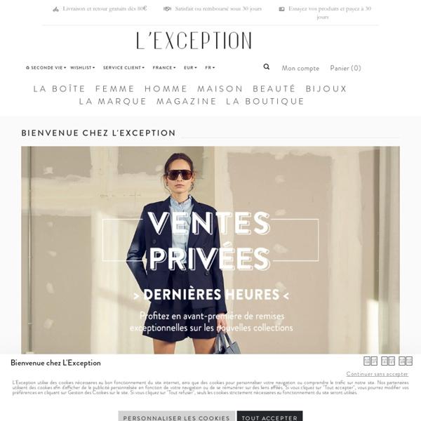L'Exception - Boutique online de créateurs de mode français