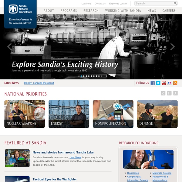 Sandia National Laboratories: Exceptional Service in the National Interest
