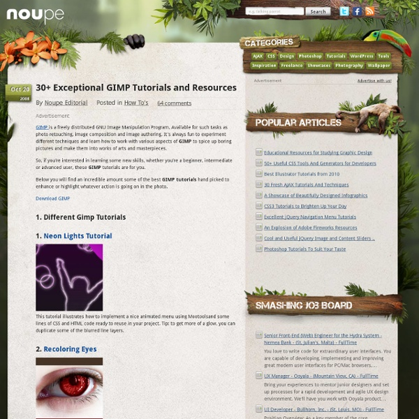 30 Exceptional GIMP Tutorials and Resources - Noupe Design Blog