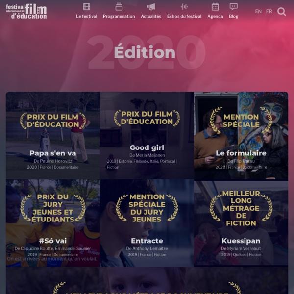Édition 2020 : une organisation exceptionnelle - Festival international du film d'Éducation