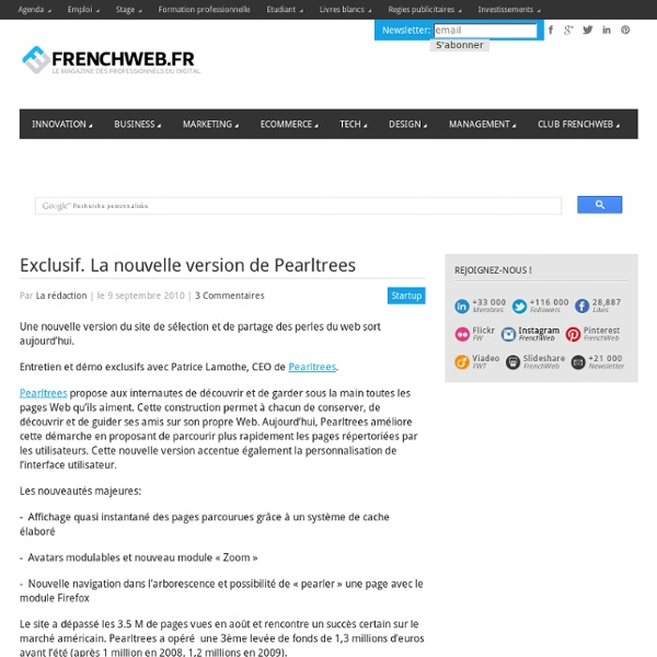 Exclusif. La nouvelle version de Pearltrees