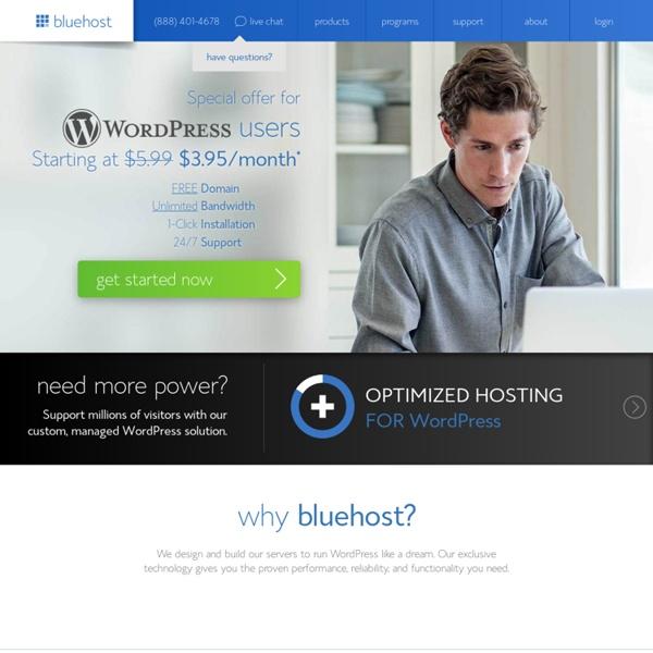 WordPress Hosting - Web hosting provider - Bluehost.com