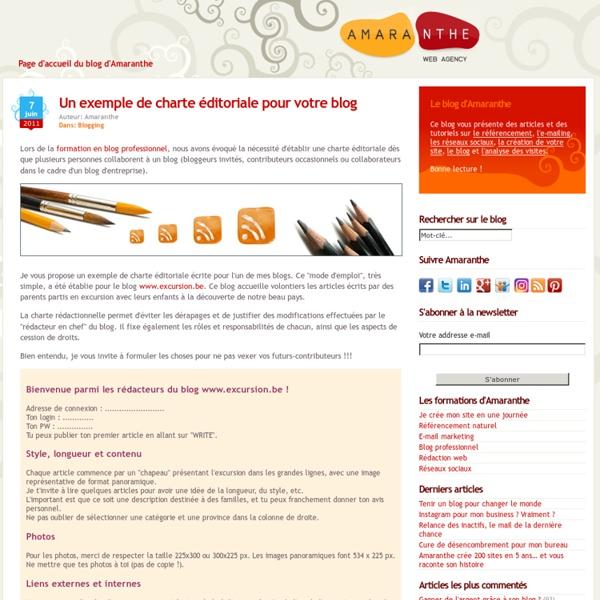 Un exemple de charte éditoriale pour votre blog