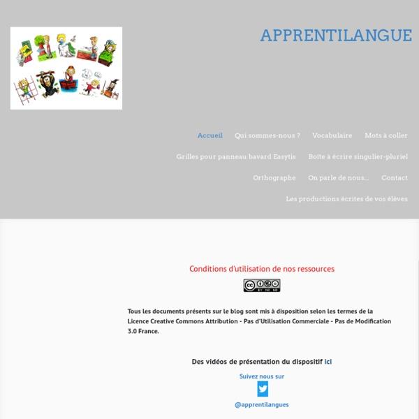 """LEXIQUE- le dispositif """" Deux mots par jour"""" sur le site d'apprentilangue !"""