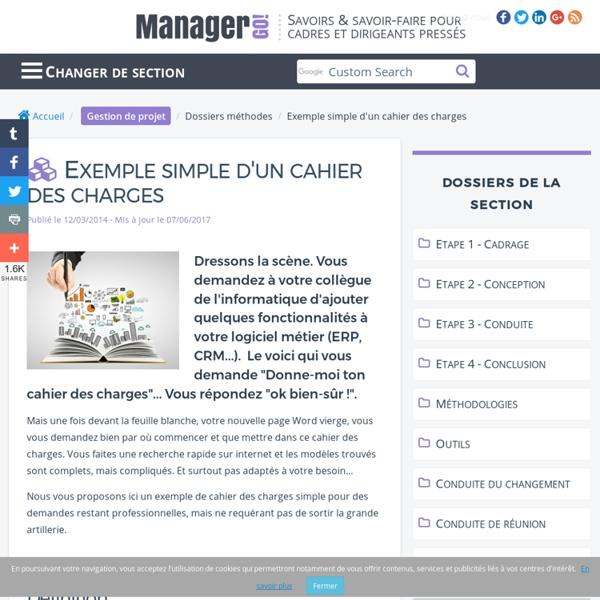 Exemple simple d 39 un cahier des charges pour un projet pearltrees - Cahier des charges definition ...