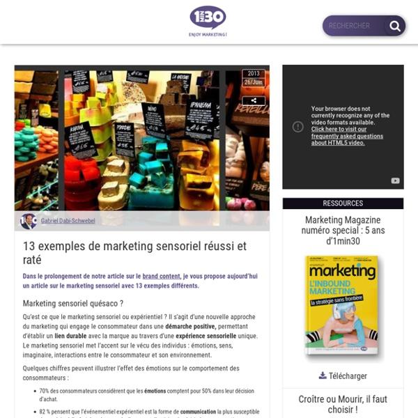 13 exemples de marketing sensoriel réussi et raté