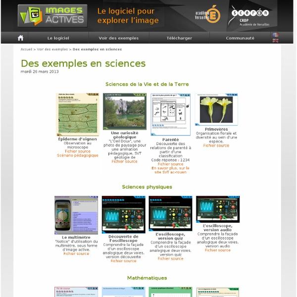 Des exemples en sciences