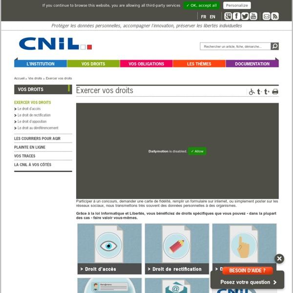 CNIL : Exercer vos droits