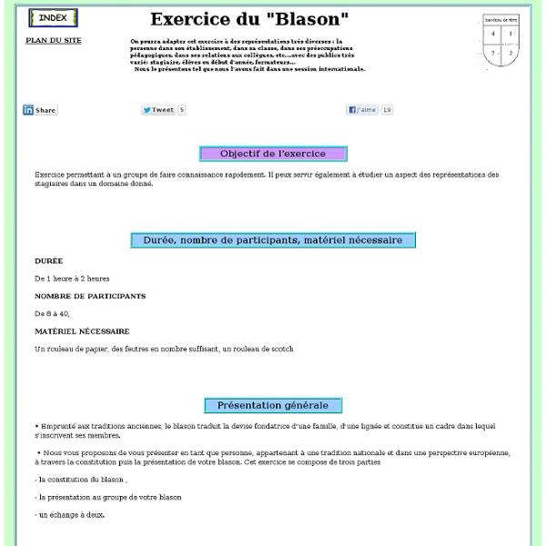 Exercice de presentation: Le blason