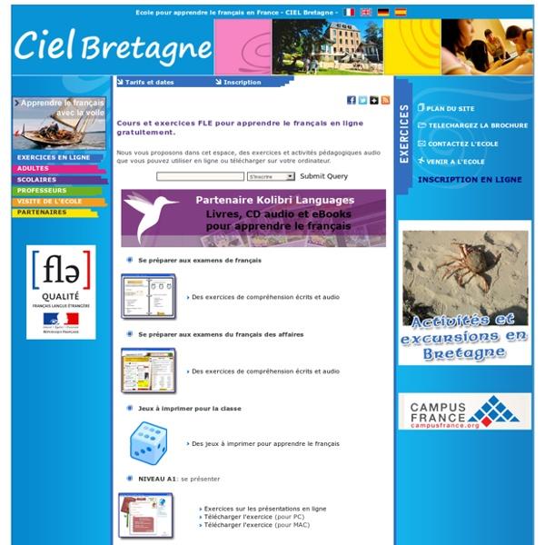 LE CIEL exercices pour apprendre à parler français FLE
