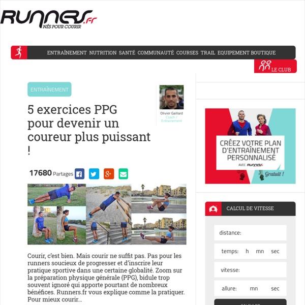 PPG : devenez un runner plus solide !