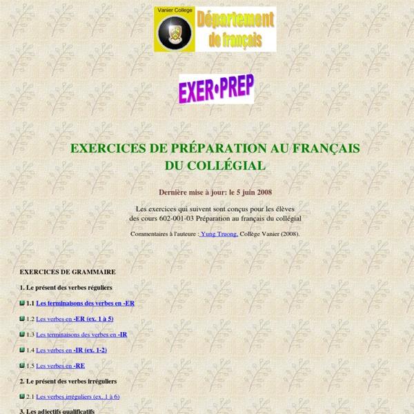 Exercices de grammaire élémentaire