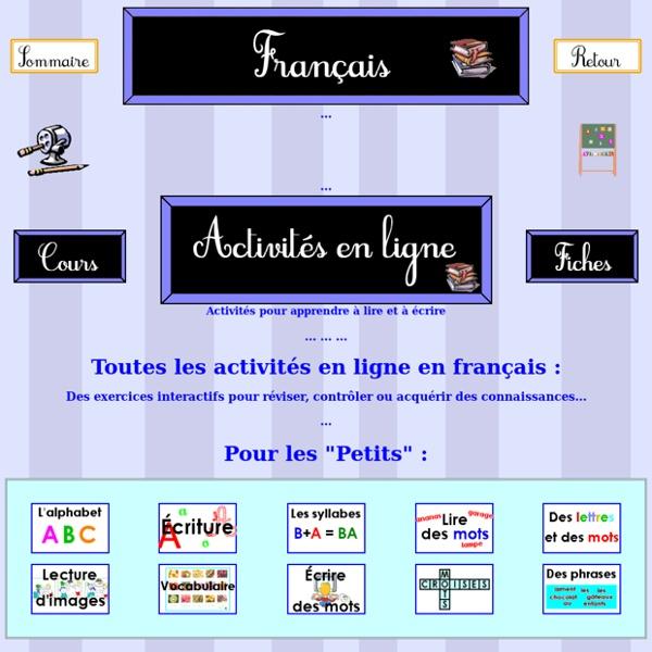 Exercices en ligne en francais