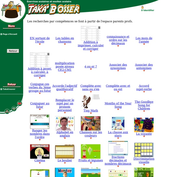 Taka'Bosser Exercices et soutien scolaire enseignement primaire