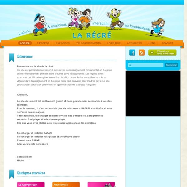 La récré exercices ludiques et gratuits pour l'enseignement primaire