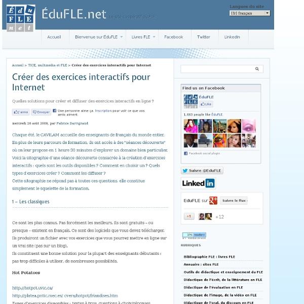 Créer des exercices interactifs pour Internet