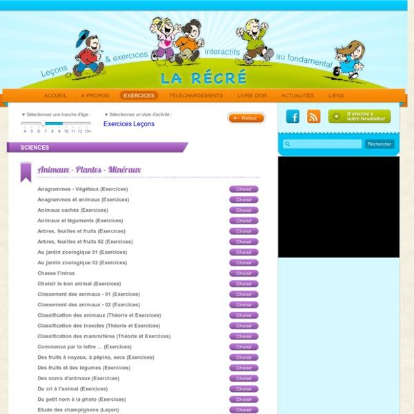 Exercices ludiques pour les enfants de primaire en sciences