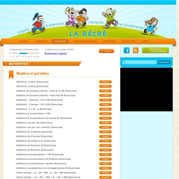 Exercices ludiques pour les enfants de primaire en mathématique