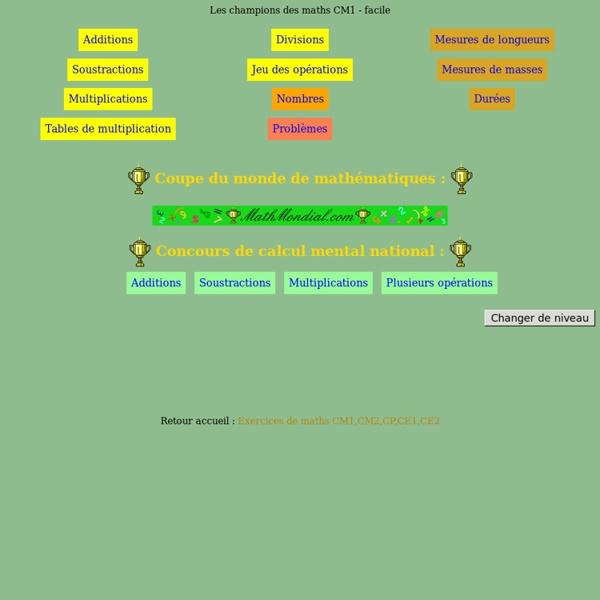 Assez Exercice » Exercices De Math Cm1 - Ateliers Pour Les Enfants De  OZ91