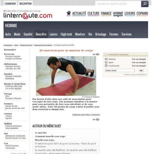20 exercices pour se muscler le corps - L'Internaute Sport