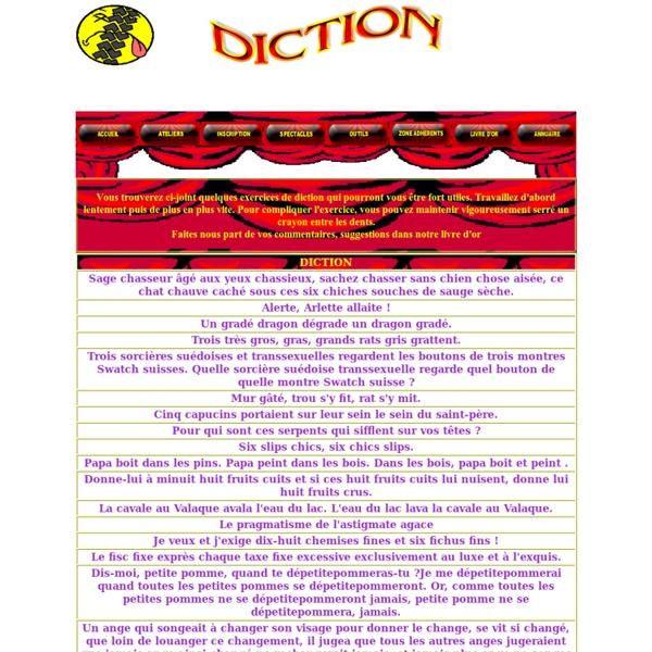 ATA THEATRE Exercices Diction pronociation amplifier la voix