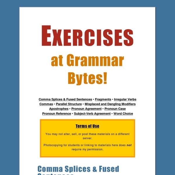 Exercises at Grammar Bytes!