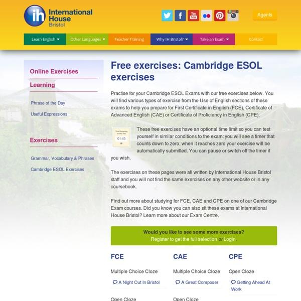 Cambridge ESOL English Exercises