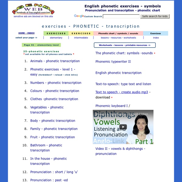 English phonetic exercises