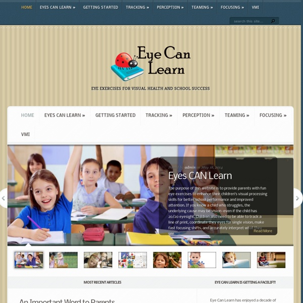 Eye Exercises for Visual Health and School Success