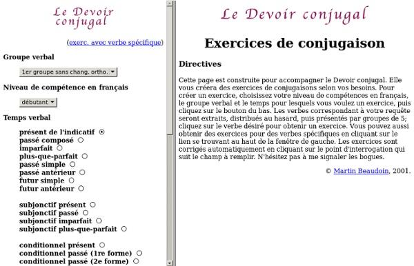 Exerciseur de conjugaison
