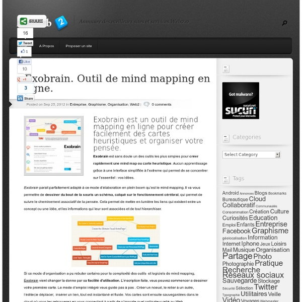 Exobrain. Outil de mind mapping en ligne