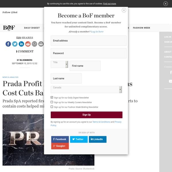 Prada Profit Falls Less Than Expected as Cost Cuts Balance Asia