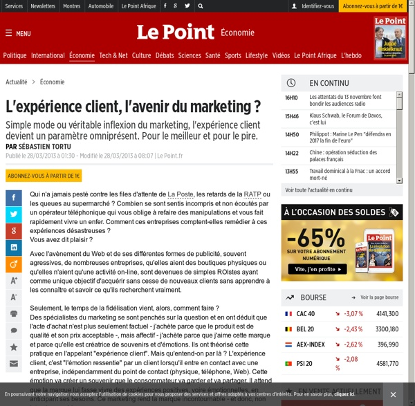 L'expérience client, l'avenir du marketing ?