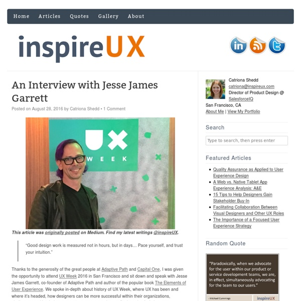 User Experience articles and quotes to inspire and connect the UX community